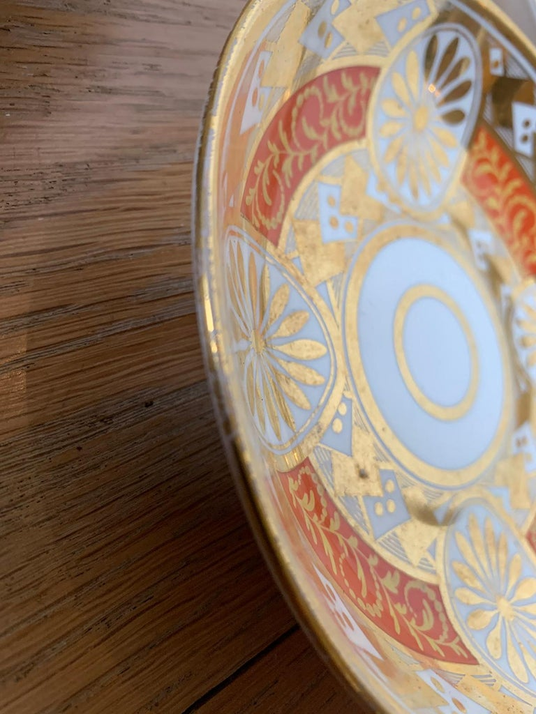 Set of Four 19th Century English Staffordshire Davenport Plates, Anchor Mark For Sale 8