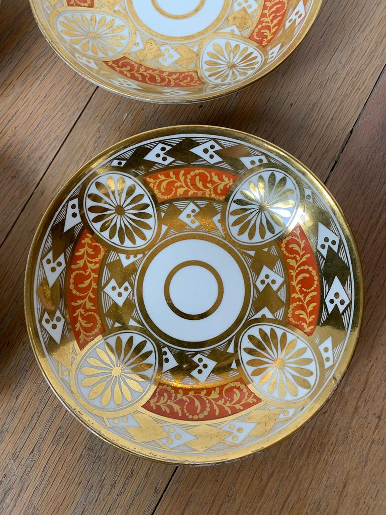 Set of Four 19th Century English Staffordshire Davenport Plates, Anchor Mark For Sale 9