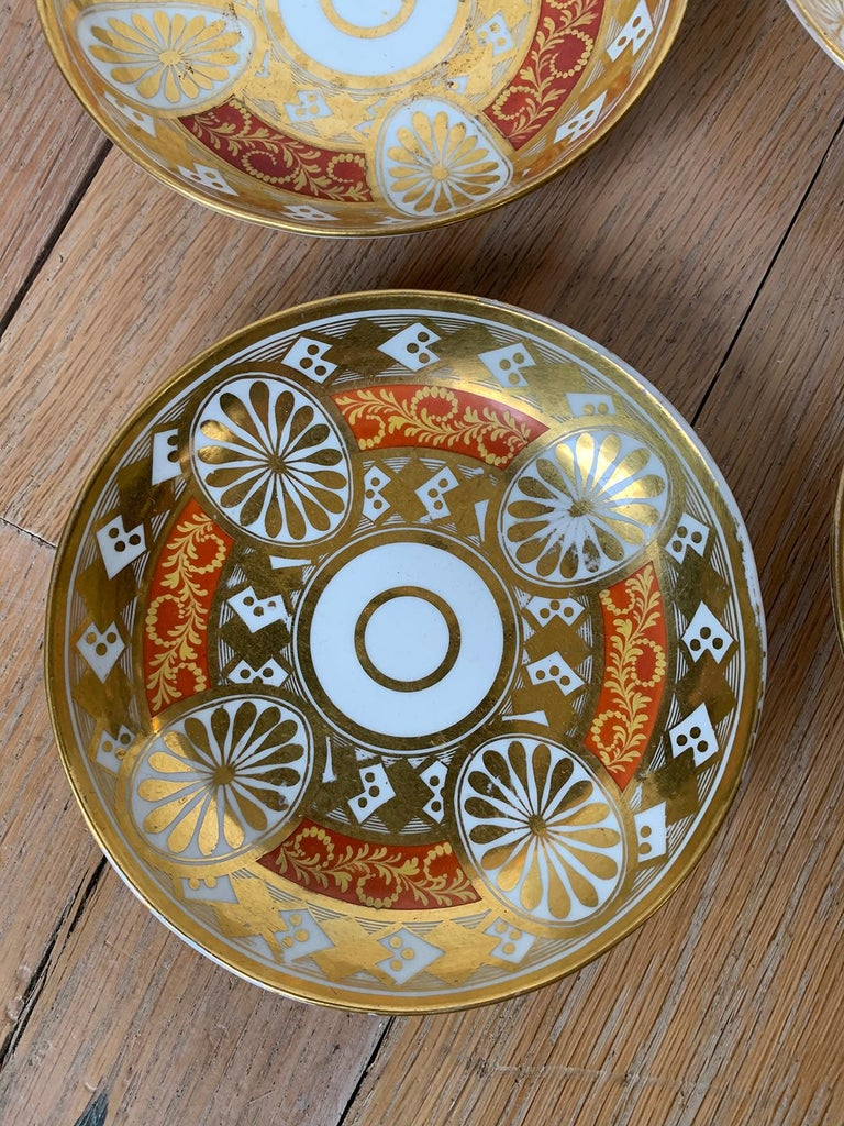 Set of Four 19th Century English Staffordshire Davenport Plates, Anchor Mark For Sale 10