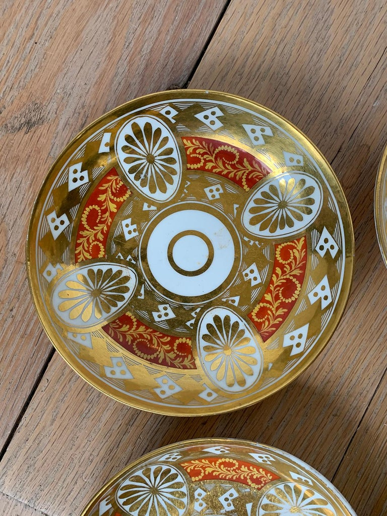 Set of Four 19th Century English Staffordshire Davenport Plates, Anchor Mark For Sale 11