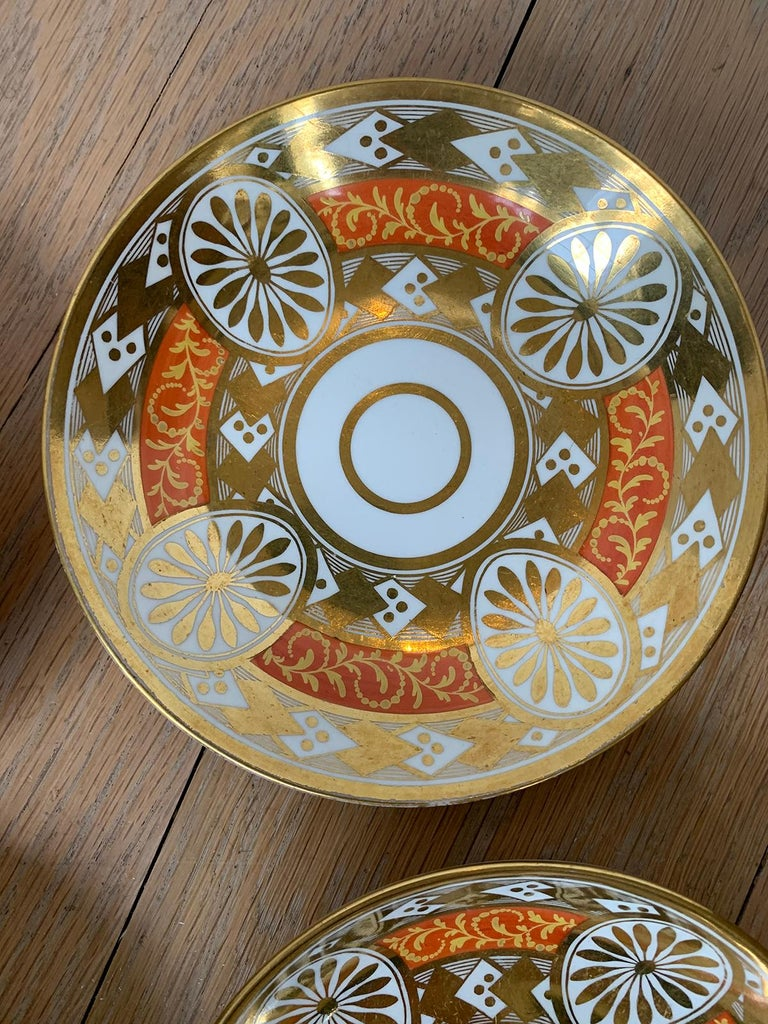 Set of Four 19th Century English Staffordshire Davenport Plates, Anchor Mark For Sale 12