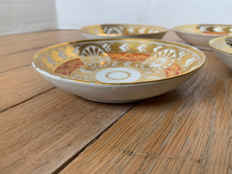 Set of Four 19th Century English Staffordshire Davenport Plates, Anchor Mark For Sale 13