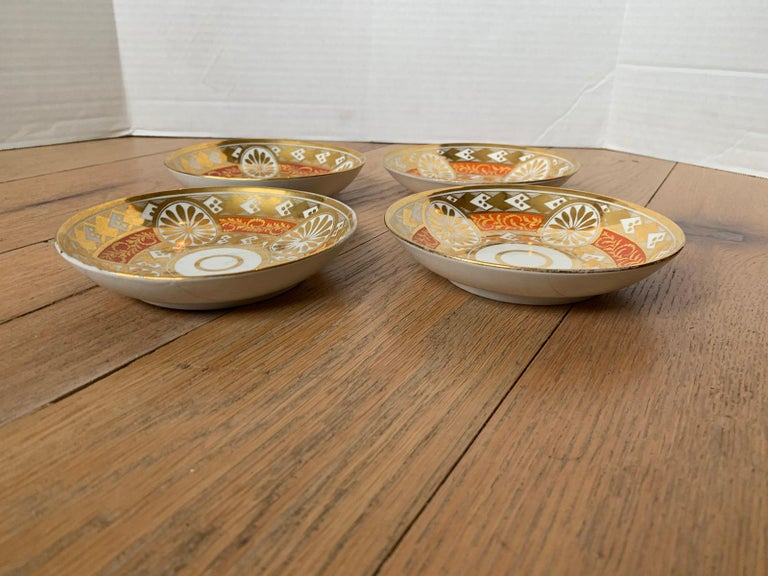 Set of Four 19th Century English Staffordshire Davenport Plates, Anchor Mark For Sale 14