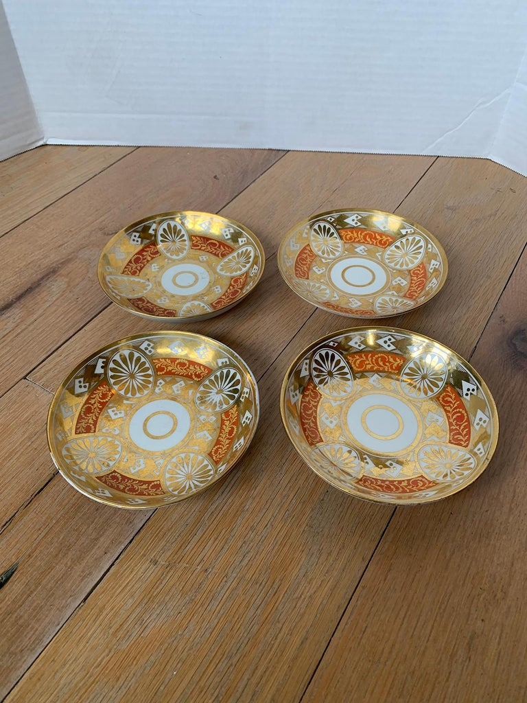 Set of Four 19th Century English Staffordshire Davenport Plates, Anchor Mark For Sale 3