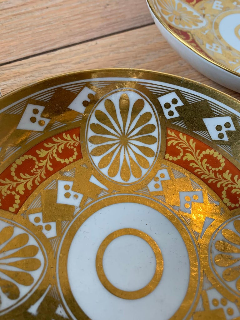Set of Four 19th Century English Staffordshire Davenport Plates, Anchor Mark For Sale 4