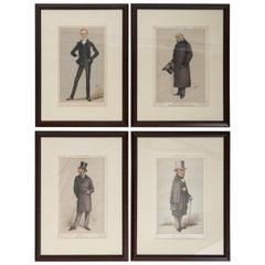 Set of Four 19th Century Framed Vanity Fair Caricatures