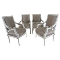 Set Of Four 19th Century Swedish Gustavian Armchairs