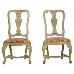 Set of Four 19th Century Italian Painted Chairs