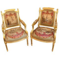 Set of Four 19th Century Louis XVI Style Bergeres