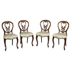 Set of Four 19th-Century Mahogany Chairs