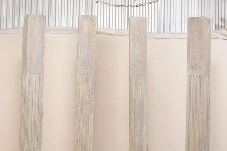 Set of Four 19th Century Square Fluted Painted Columns For Sale 9