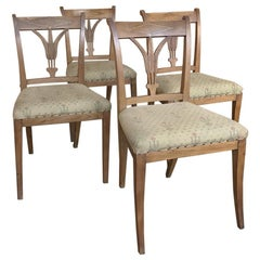 Set of Four 19th Century Swedish Directoire Style Chairs