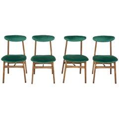 Set of Four 20th Century Dark Green Rajmund Halas Chairs, 1960s