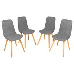 Set of Four 20th Century Fameg Gray Vintage Chairs, 1960s, Poland
