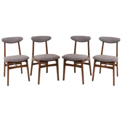 Set of Four 20th Century Gray Chairs by Rajmund Halas, 1960s
