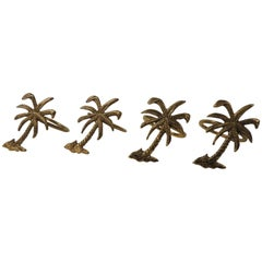 Set of Four '4' Decorative Palm Trees Napkin Holders