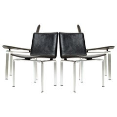 Set of Four '4' Minimalist Chairs by Jorgen Hoj