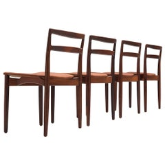 Set of Four '61' Rosewood Dining Chairs by Harry Østergaard