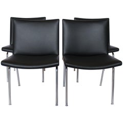 "Set of Four ""Airport-Chairs"", Model AP37 by Hans J. Wegner and AP Stolen, 1950s"