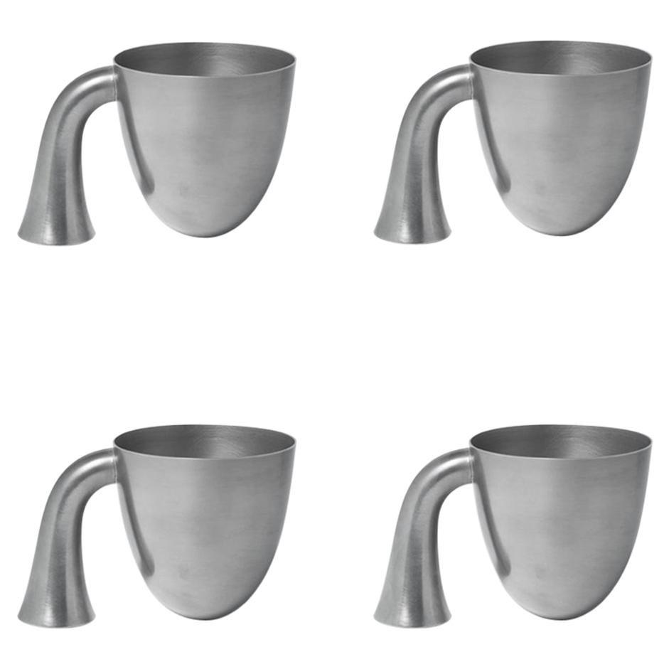 Set of Four Aldo Bakker Tin Vessel 'Support' by Karakter