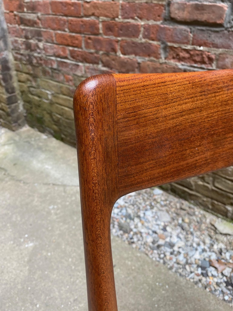 Set of Four Alfred Christensen Boomerang Teak Chairs For Sale 4