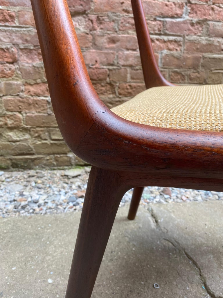 Set of Four Alfred Christensen Boomerang Teak Chairs For Sale 5