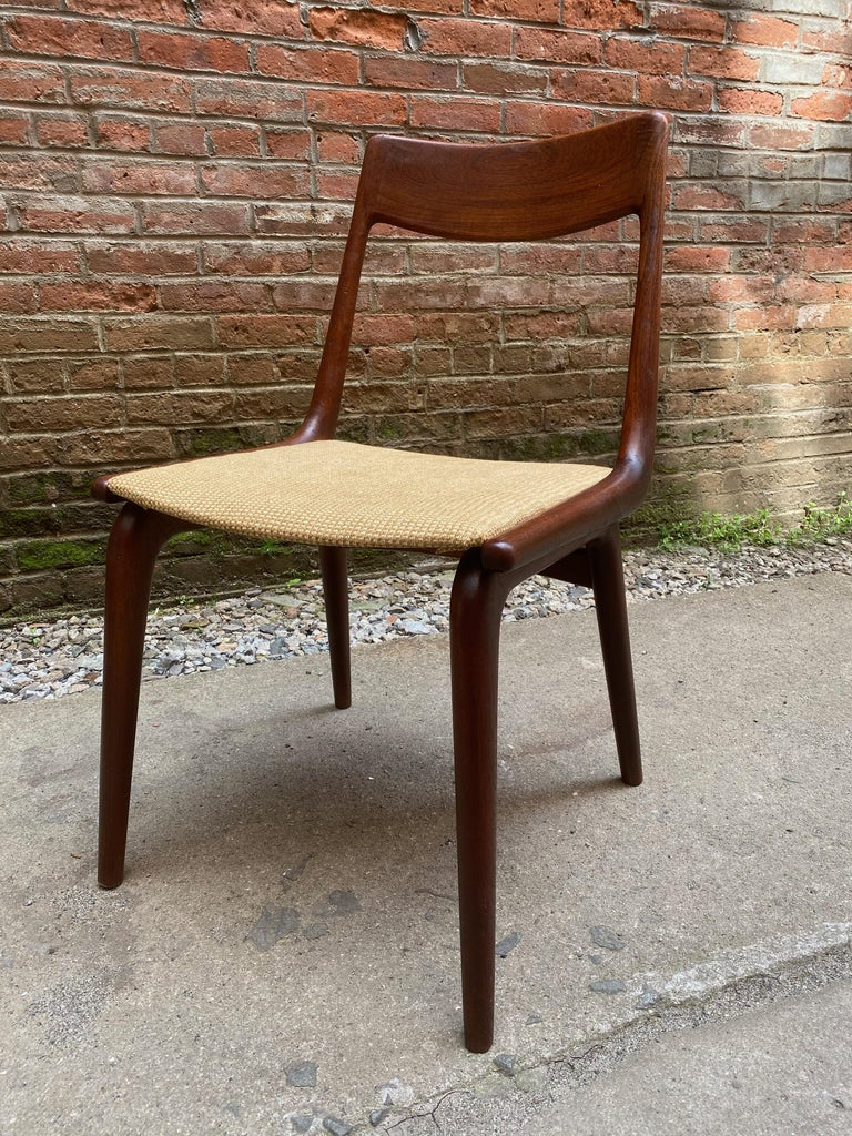 Mid-20th Century Set of Four Alfred Christensen Boomerang Teak Chairs For Sale