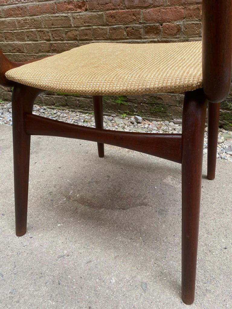 Set of Four Alfred Christensen Boomerang Teak Chairs For Sale 2