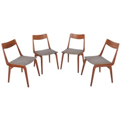 Set of Four Alfred Christensen Model 370 Boomerang Danish Modern Dining Chairs