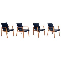 Set of Four Alvar Aalto Bentwood Dining or Armchairs, circa 1940s