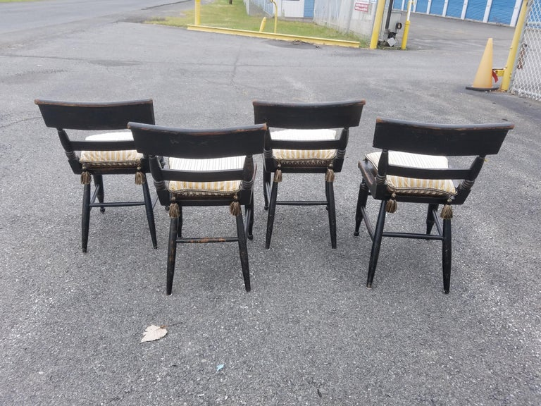 Set of Four American Fancy Chairs, Baltimore, circa 1820s For Sale 1