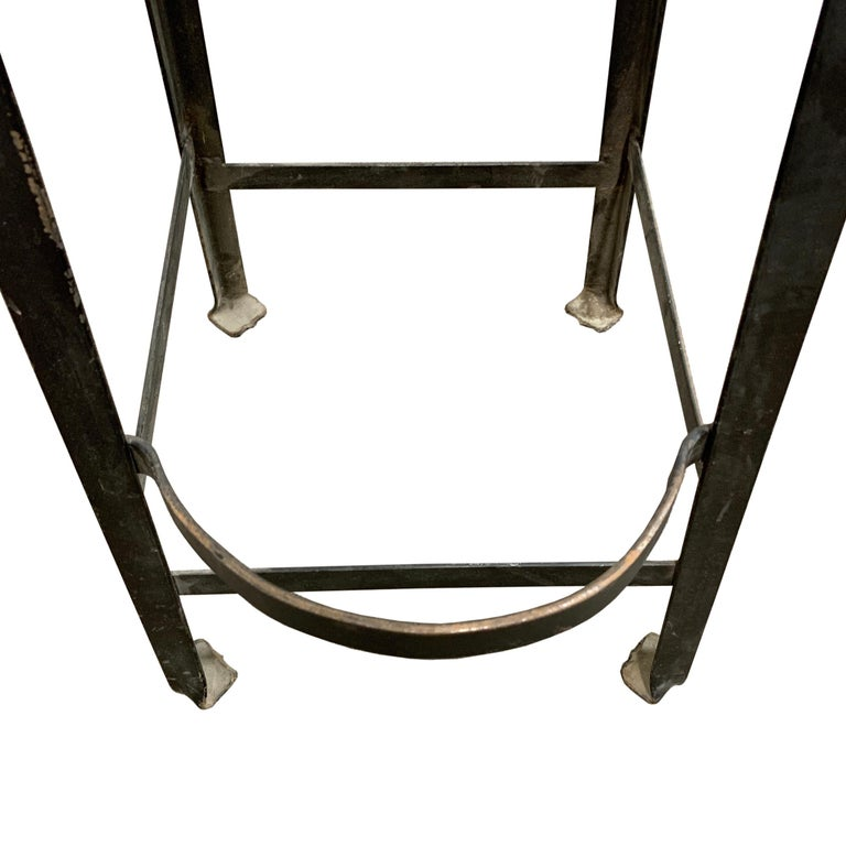 Set of Four American Industrial Bar Stools For Sale 5
