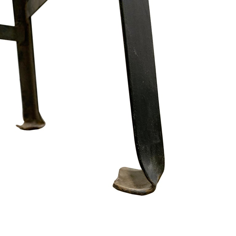 Set of Four American Industrial Bar Stools For Sale 7