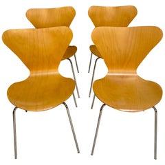 Set of Four Anne Jacobsen Series 7TM Chairs by Fritz Hansen