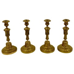 Set of Four Antique Candlesticks, 19th Century
