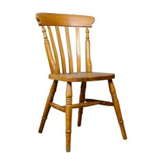 Set of Four, Antique, Dining Chairs, Lath Back, Windsor, Station 20th Century