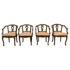 Set of Four Antique Walnut Dining Chairs