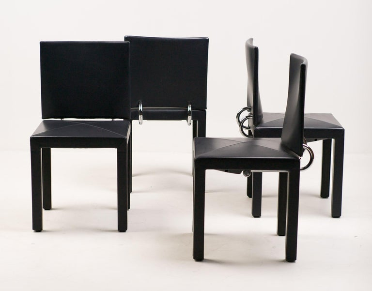 Set of Four Arcadia Chairs by Paolo Piva for B&B, Italia 1
