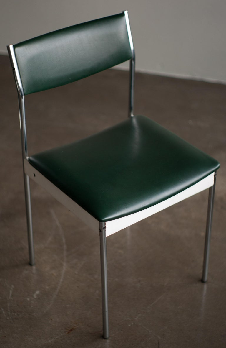 Dutch Set of Four Architectural Dining Chairs For Sale