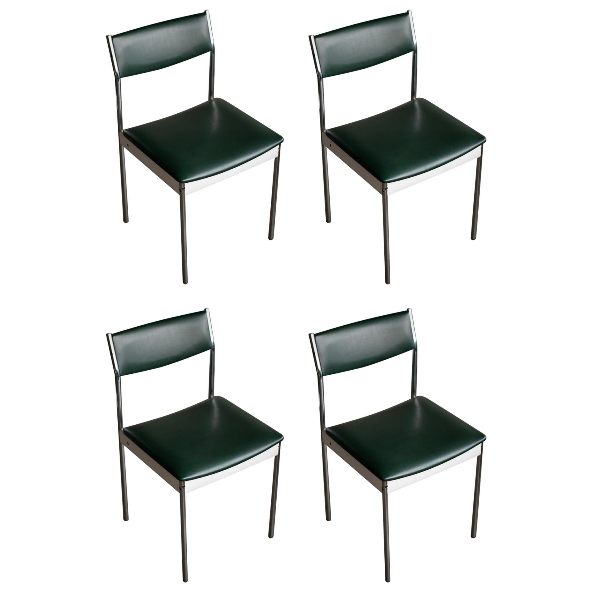 Set of Four Architectural Dining Chairs