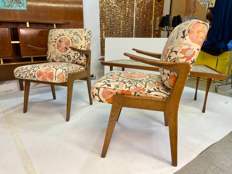 Set of Four Armchairs by Adolfo Genovese of F & G Handmade Furniture For Sale 3
