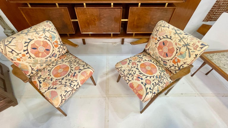 Set of Four Armchairs by Adolfo Genovese of F & G Handmade Furniture For Sale 4