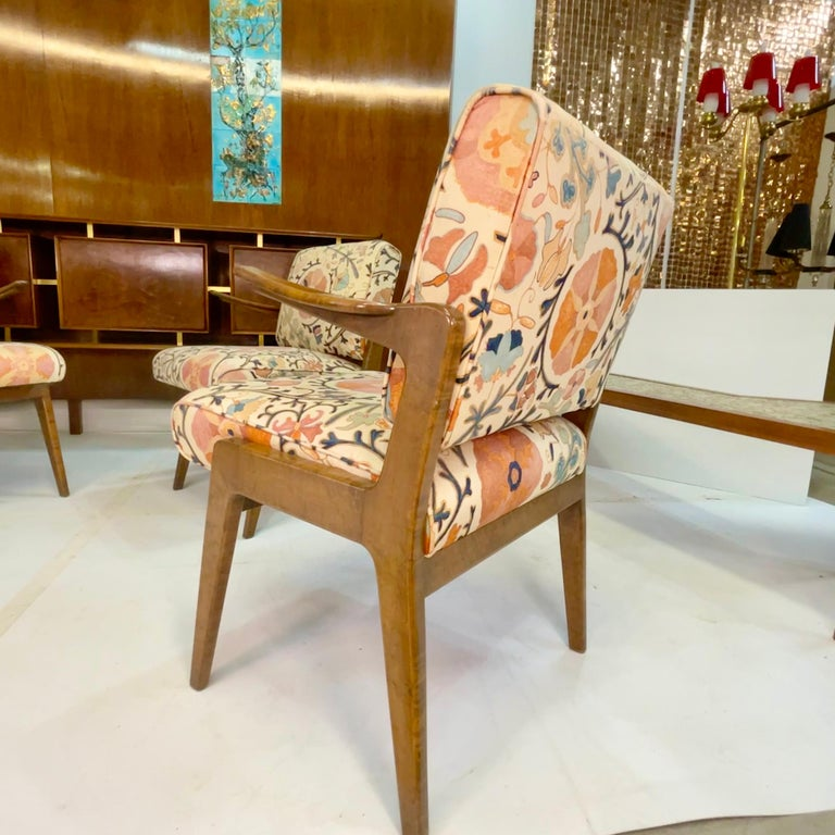 Set of Four Armchairs by Adolfo Genovese of F & G Handmade Furniture For Sale 6