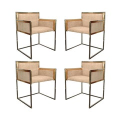 Set of Four Armchairs by Alain Delon for Maison Jansen