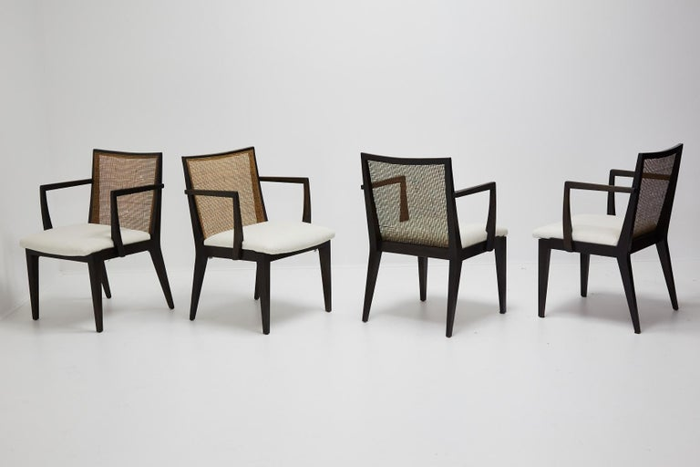 Mid-Century Modern Set of Four Armchairs by Edward Wormley for Dunbar, ca. 1959 For Sale