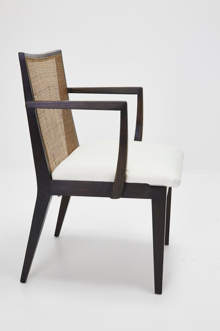 Stained Set of Four Armchairs by Edward Wormley for Dunbar, ca. 1959 For Sale