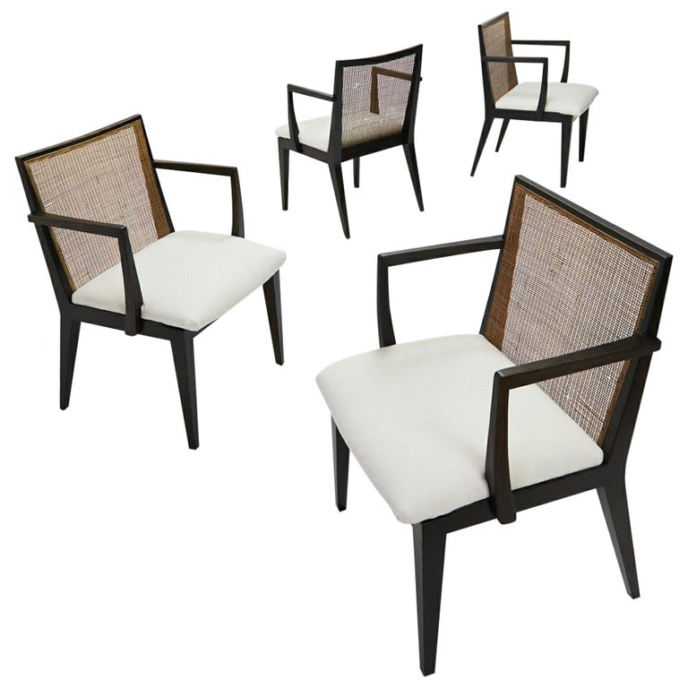 Set of Four Armchairs by Edward Wormley for Dunbar, ca. 1959 For Sale