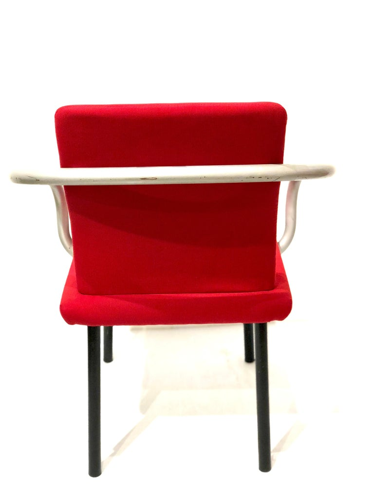 Post-Modern Set of Four Armchairs by Ettore Sottsass for Knoll Memphis Era For Sale