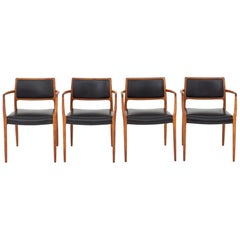 Set of Four Armchairs by Niels O. Møller