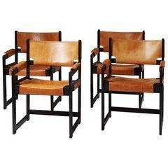 Set of Four Armchairs by Sven Kai-Larsen for Ströms Möbler, Rosenfors, Sweden